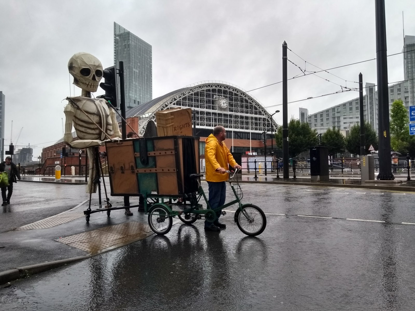 Bones of Paine puppet sighted in Manchester and Salford during Peterloo 200th anniversary weekend – but what does it mean?
