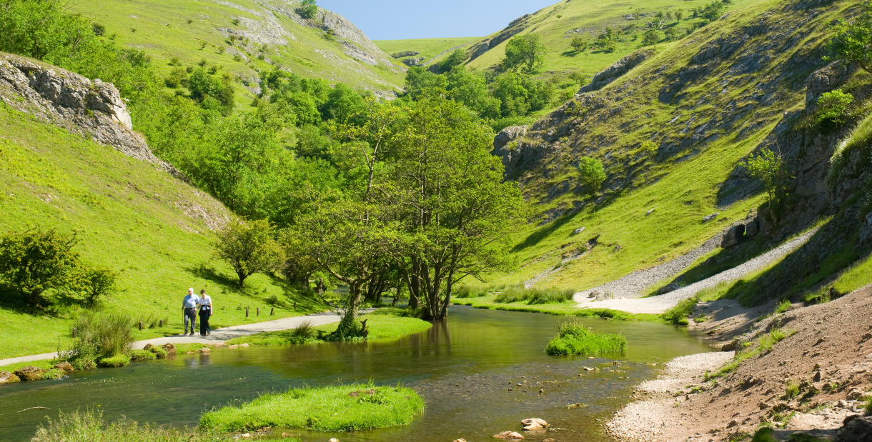 Peak District National Park In Hope Valley England