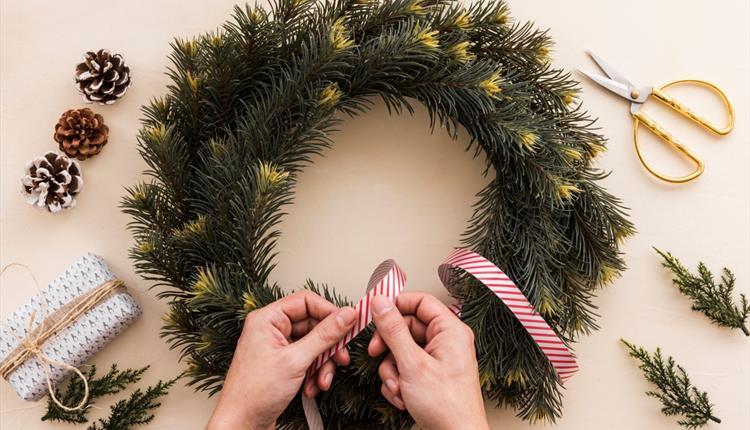 Christmas Wreath Making Workshop Visit Manchester