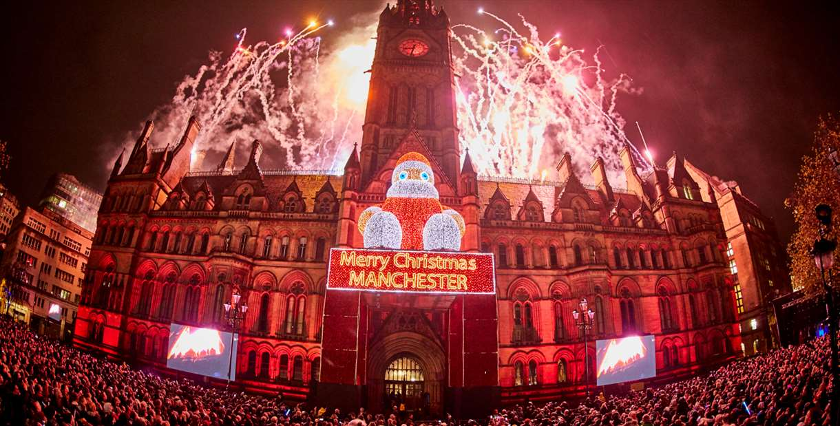 Manchester Christmas Lights Switch On Visit