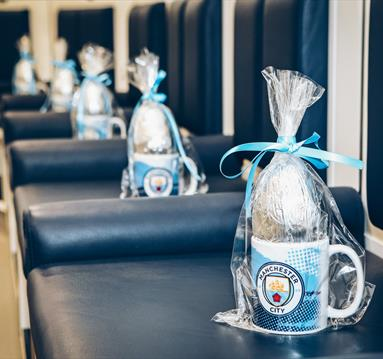 Manchester City as an 'EGG-STRA' treat for children on its stadium tour this Easter