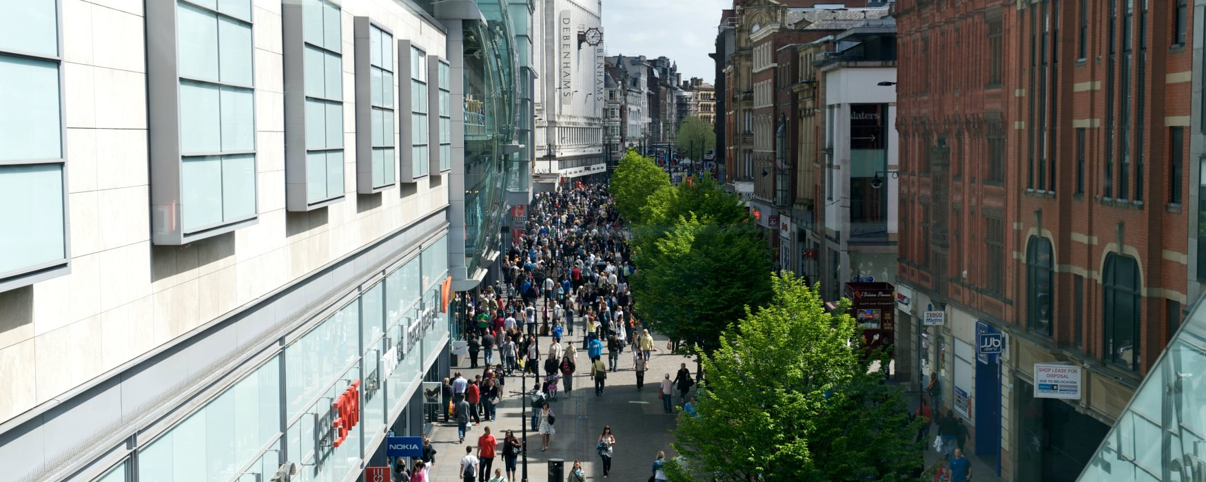 High Street Shops in Manchester