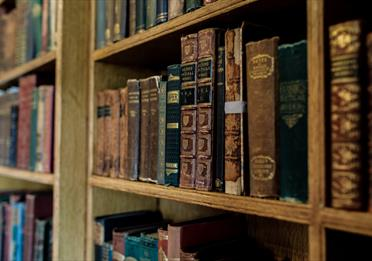 Secondhand book sale at Elizabeth Gaskell's House