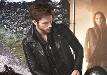 A model wearing Belstaff clothing