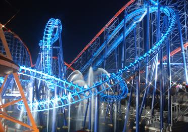 Infusion at night, Blackpool