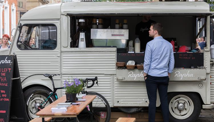 Rapha Coffee Van