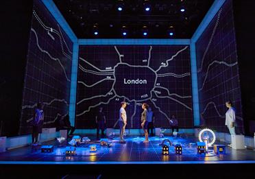 Production shot from The Curious Incident of the Dog in the Night-Time