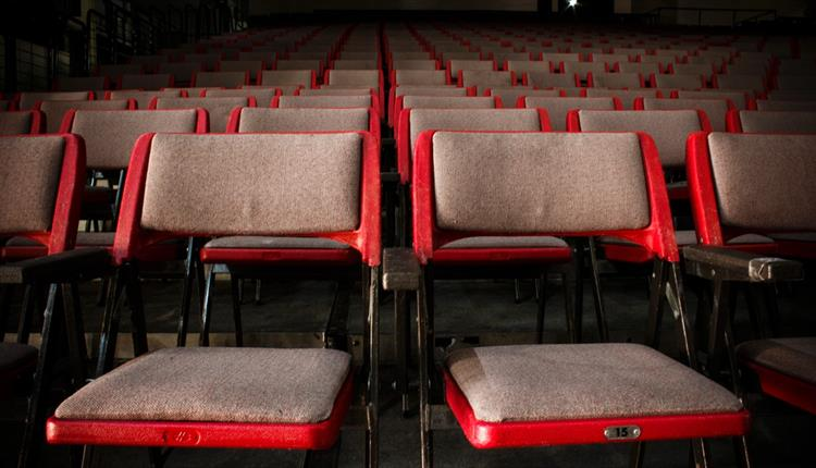 Chairs set up to watch a film at a pop up cinema