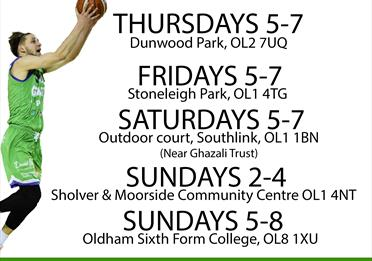 Stoneleigh Park - open Basketball sessions with Manchester Giants
