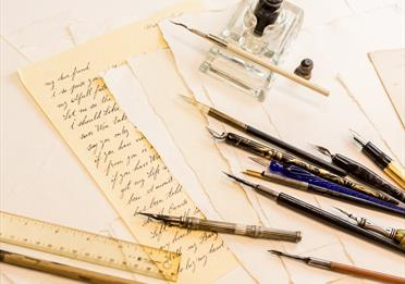 Modern calligraphy at Elizabeth Gaskell's House