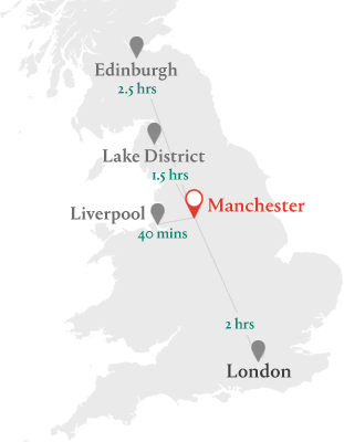 Image result for manchester uk map